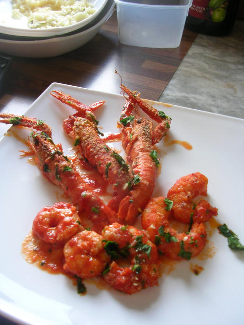 Scampi & Prawns in Tomato Sauce