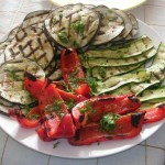 Assorted grilled season vegetables