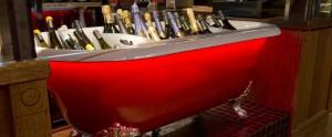 Wine display in Venice