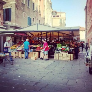 Fruit Veg Rialto Market in Venice