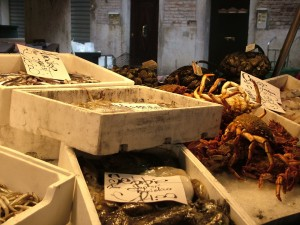Fresh Fish in Venice - Rialto - Cook In Venice