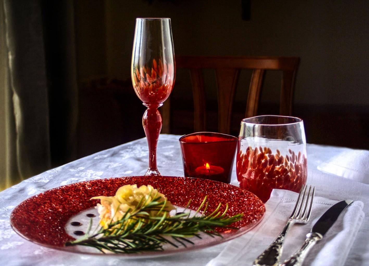 Zucca in saor on Murano Glass set by Abate Zanetti