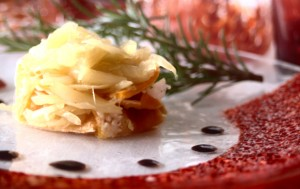 DElicious pumpkin with onion on Murano Glass plates