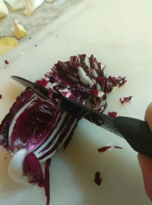 Radicchio chopped with Katana by U-Cook Italia