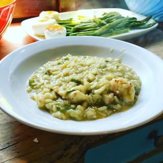 Asparagus and Shrimps Risotto